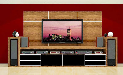 estante planejada para home theater