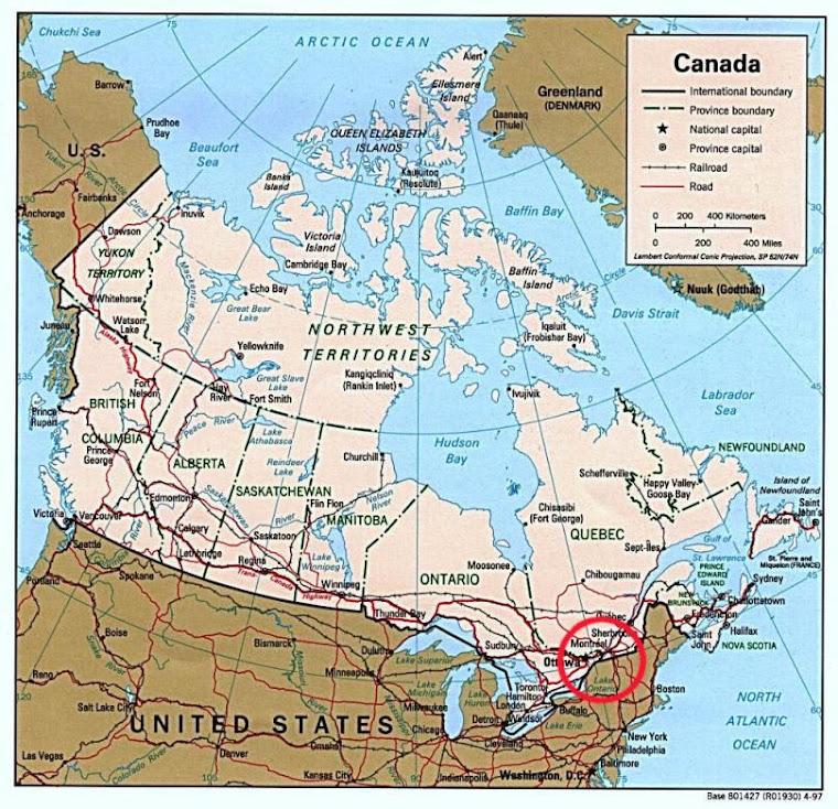 Ubicacion de Canada-.