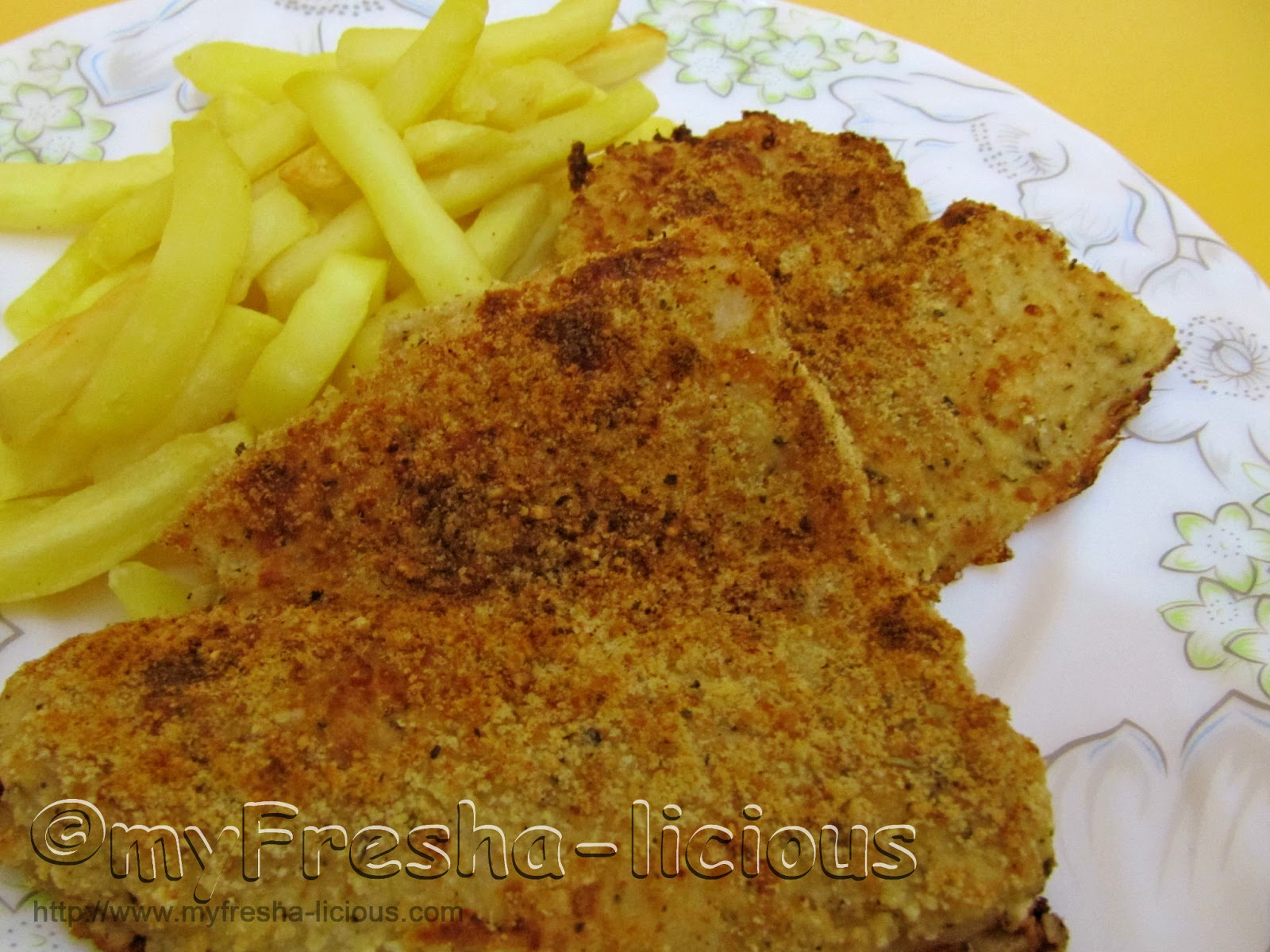 Myfresha licious baked breaded parmesan fish for How to make breaded fish