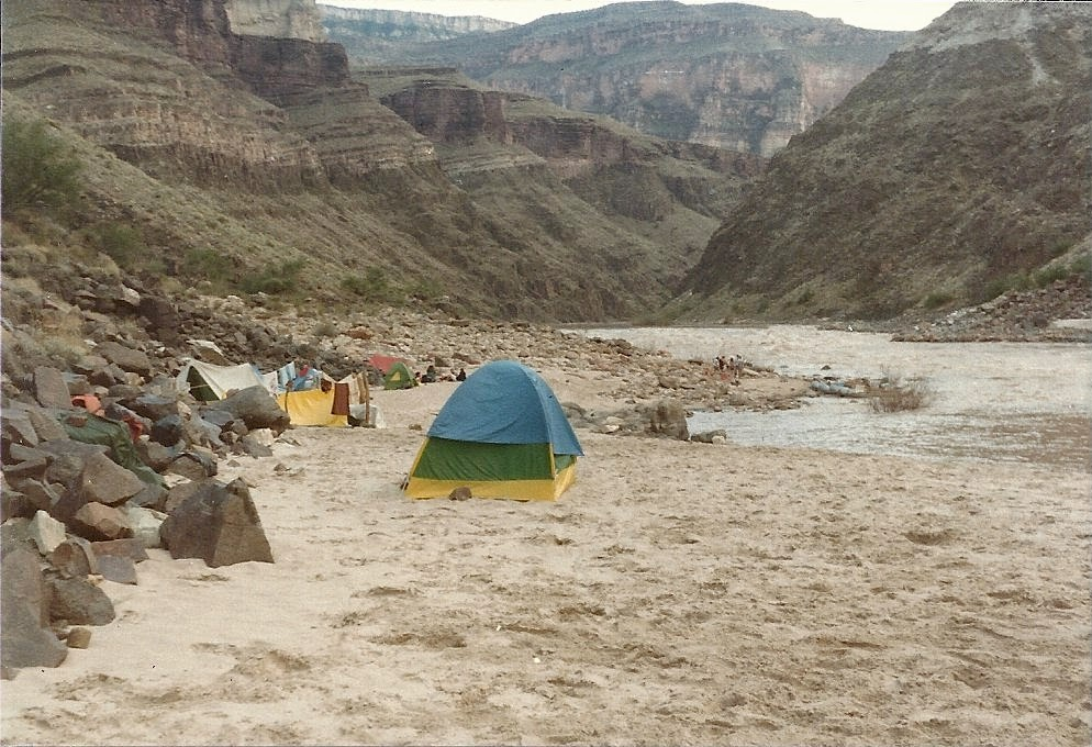 Campsite in the Grand Canyon