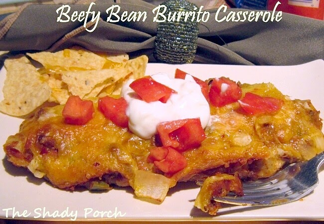 Beefy Bean Burrito Casserole