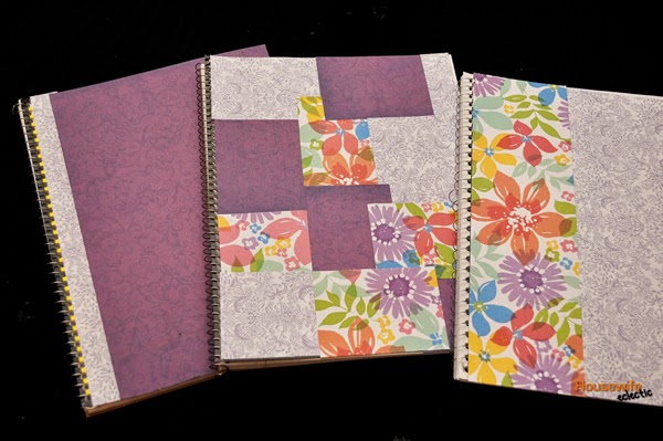 Craft Book Cover Page : Housewife eclectic scrapbook paper covered journals with
