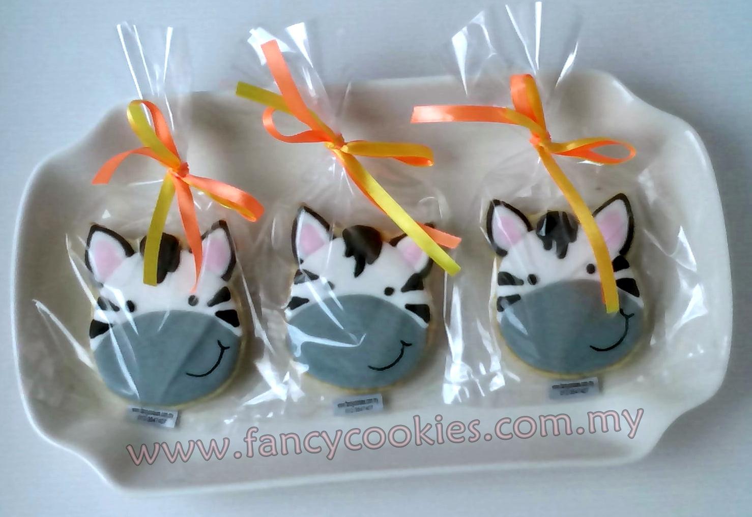 fancy cookies zebra - kuda belang