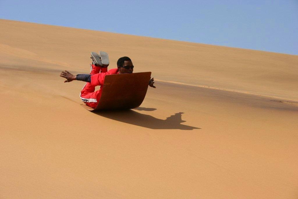Sandboarding adventure tours in Swakopmund, Namibia