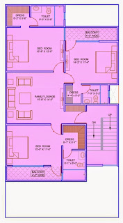 Up Country, Yamuna Expressway :: Floor Plans,Villa  1800 Sq. Ft. (200 Sq. Yds.):Total Buildup Area by us-4698 Sq.ft:-First Floor Plan