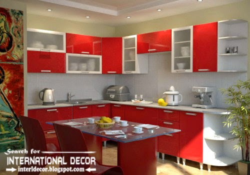 How to make beautiful kitchen renovation, red and white kitchen designs