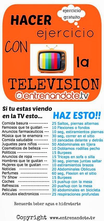 hacer ejercicio con la television