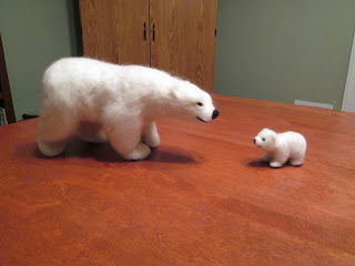 Needle felted animal