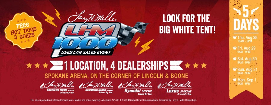 LHM 1000 Used Car Sales Event | Larry H Miller Hyundai Spokane