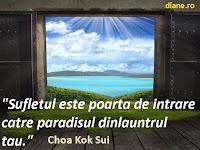 Sufletul este poarta de intrare catre paradisul dinlauntrul tau