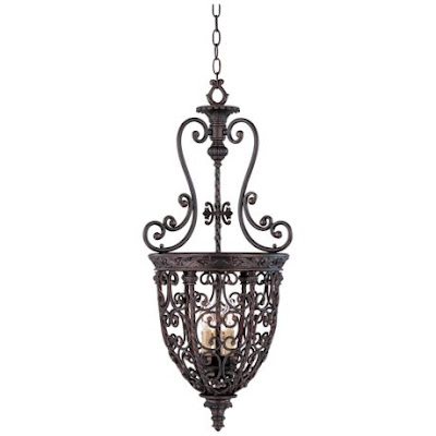 French Scroll Foyer Chandelier from Lamps Plus