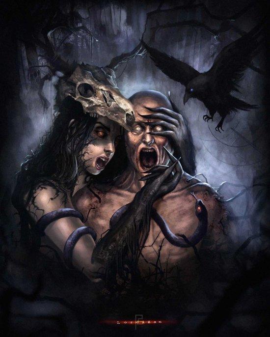 Pedro Sena lordigan deviantart ilustrações fantasia sombria terror