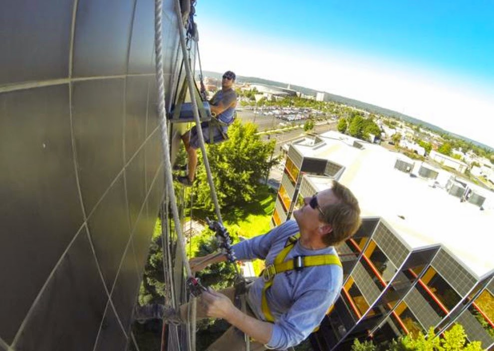 how to clean high rise windows from inside