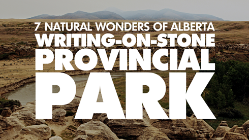 writing on stone 7 wonders alberta