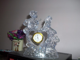 love couple of crystal lovely pleasant transparent home decor India gift