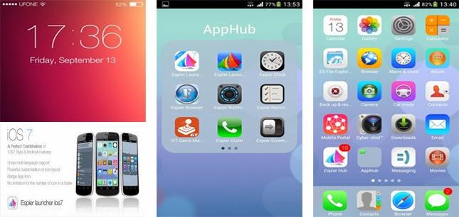 تطبيق Espier Launcher iOS7