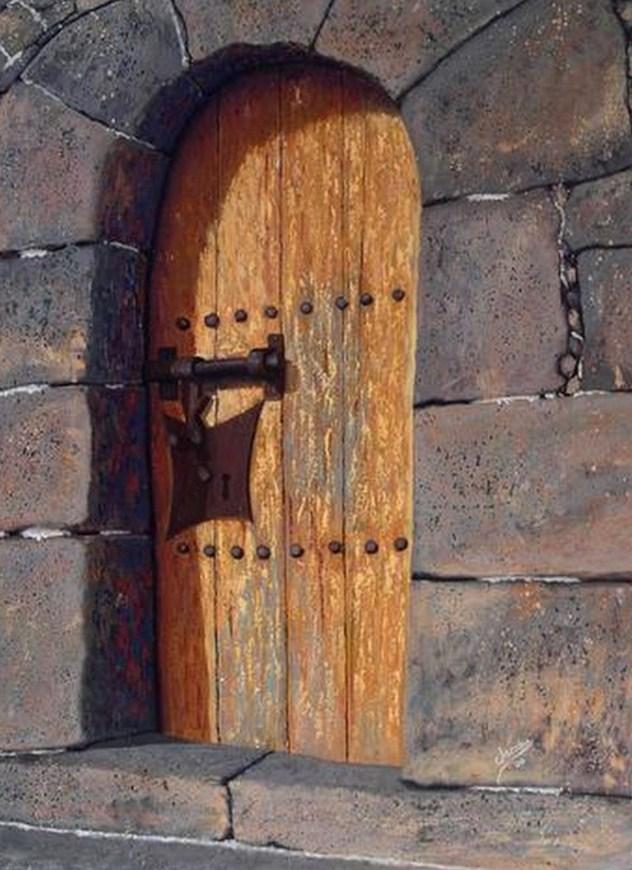Pinturas cuadros lienzos el arte en pinturas de puertas antiguas - Manillas puertas antiguas ...