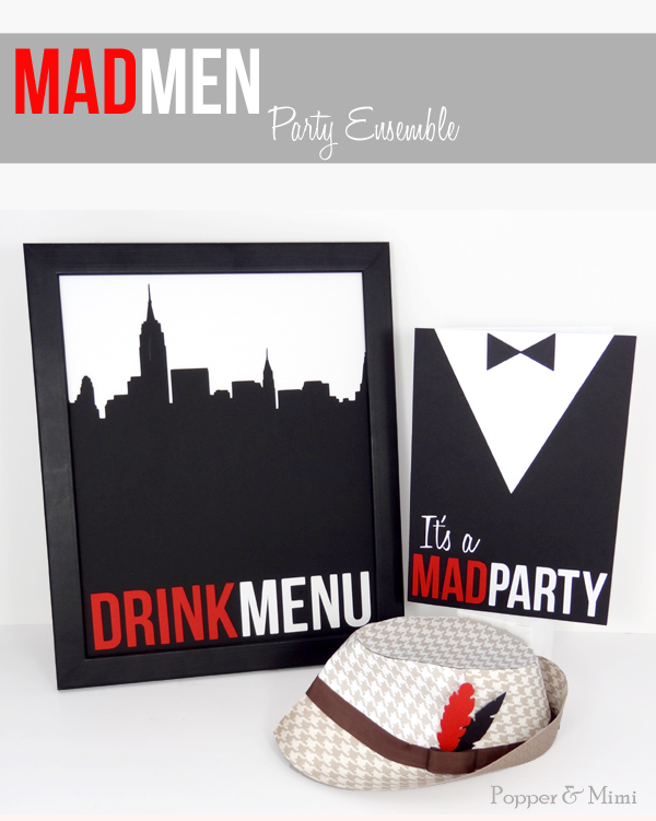 Mad Men DIY Party Decor | popperandmimi.com