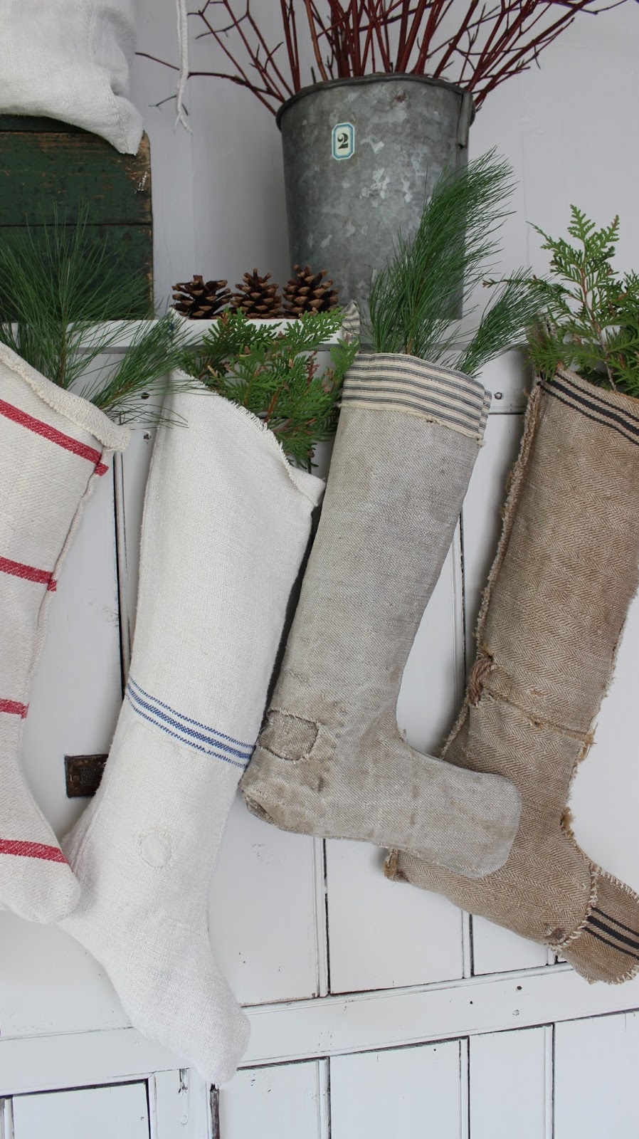 christmas stockings for sale - Farmhouse Christmas Decor For Sale