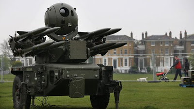 missile launchers at six sites at london olympics