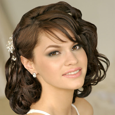 Cute Wedding Hairstyles on Pretty Wedding Hairstyles With Side Bangs Hair For Women In Spring