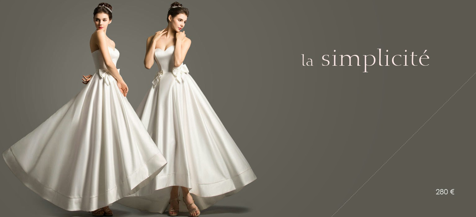 Minimaliste Wedding Dress in satin