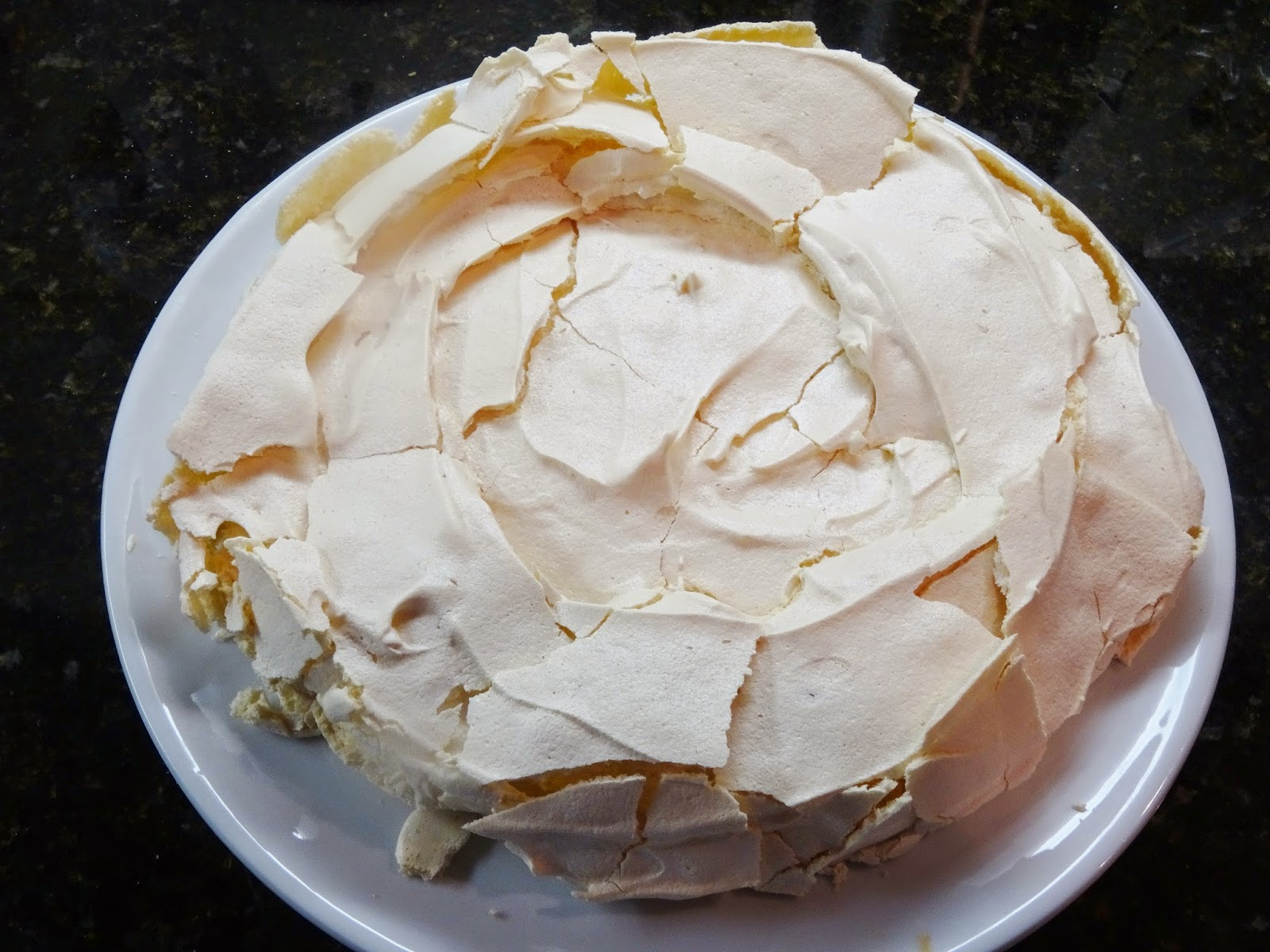 Test #108 Pavlova with Lemon Curd, Sweetened Lemon Whipped ...