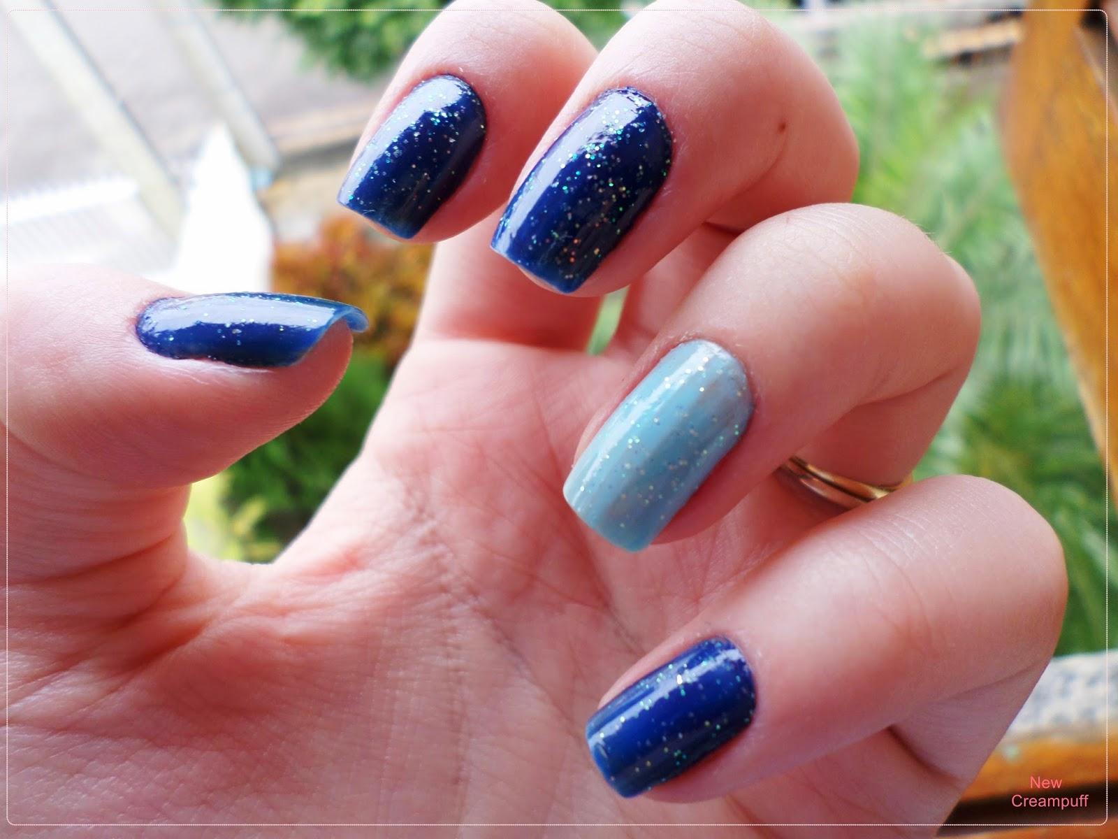 Esmalte da vez: Degradê azul