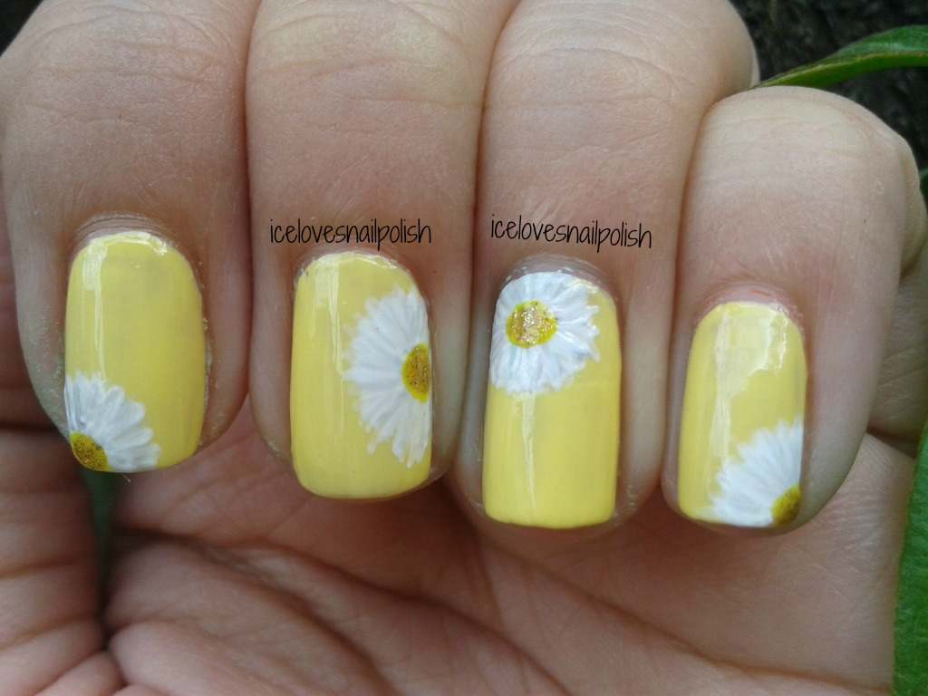 Day 3 Of The 31 Day Nail Art Challenge Yellow Nails