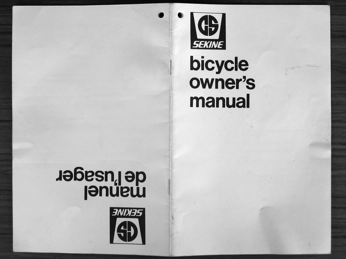 The Sekine Project  Sekine Bicycle Owner U0026 39 S Manual
