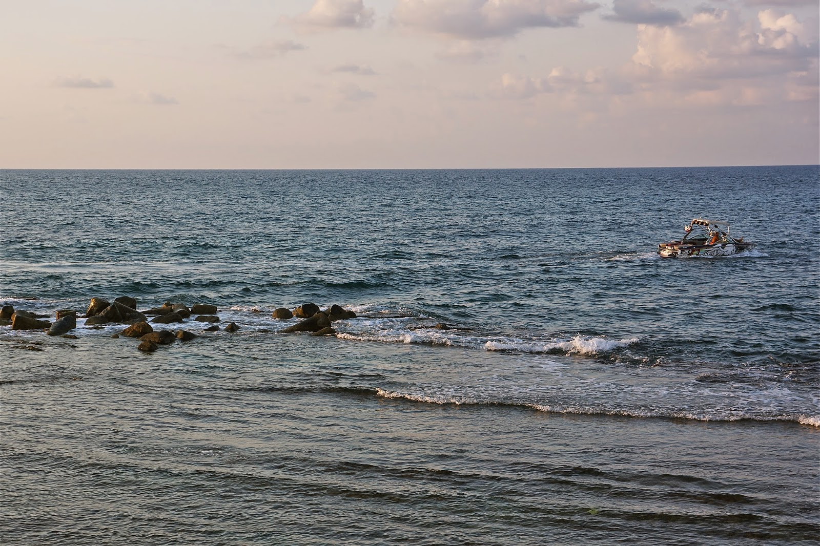 Picture of the Mediterranean sea in Tyre, Lebanon.
