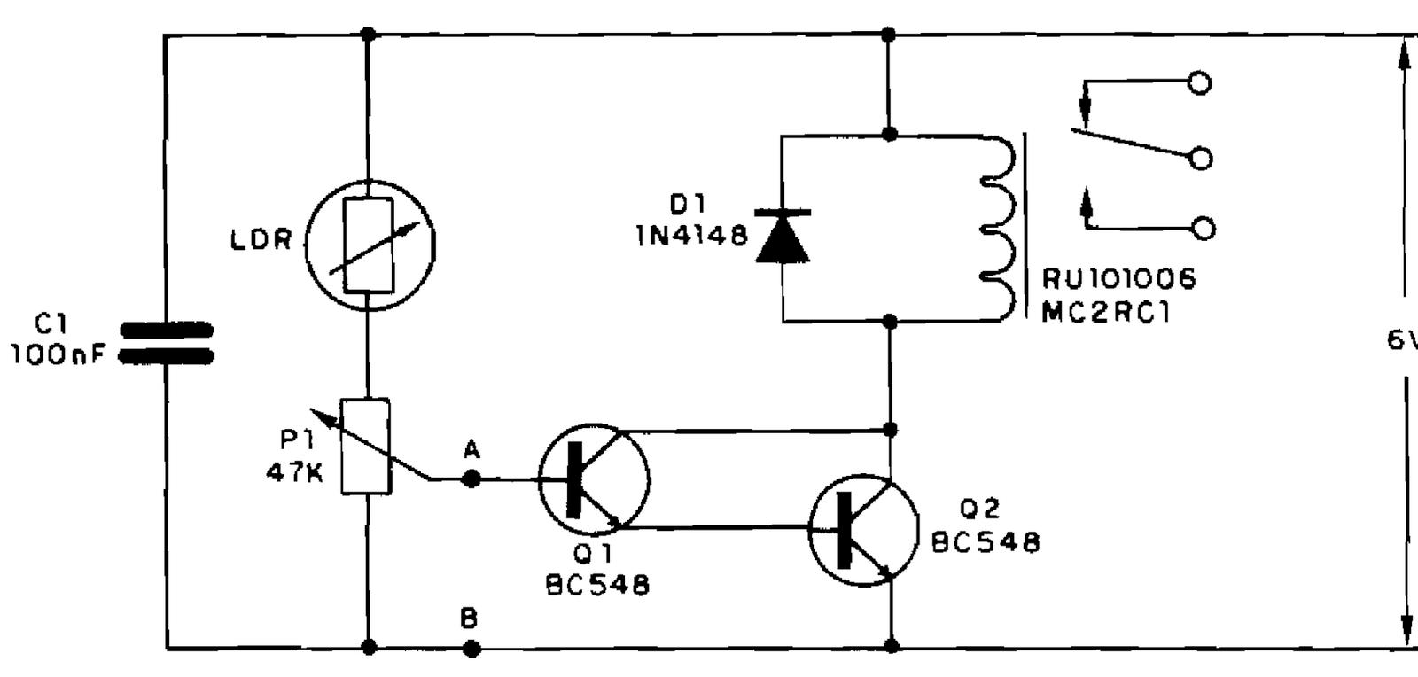 Circuito Ldr : EletrÔnica geral relé de luz com ldr