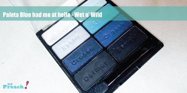 review: eyeshadow palette 737 Blue Had me at Hello da marca Wet n' Wild