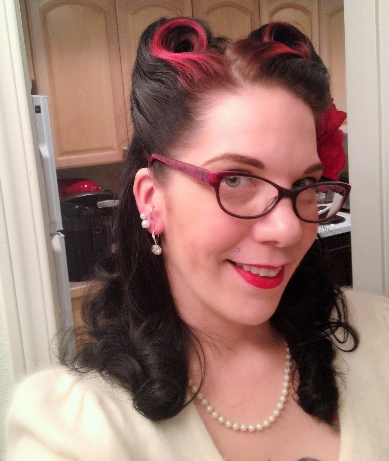 Victory rolls - She Knits in Pearls