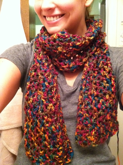 Crochet Stitches Loose : Cats and Crafts: Crocheted Loose Stitch Scarf