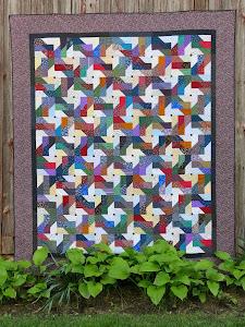 Pinwheel Scrap Quilt