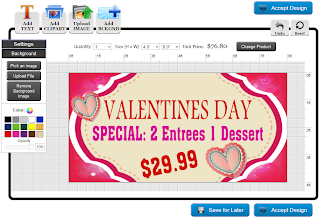 Valentine's Day Banner Template in the Online Designer