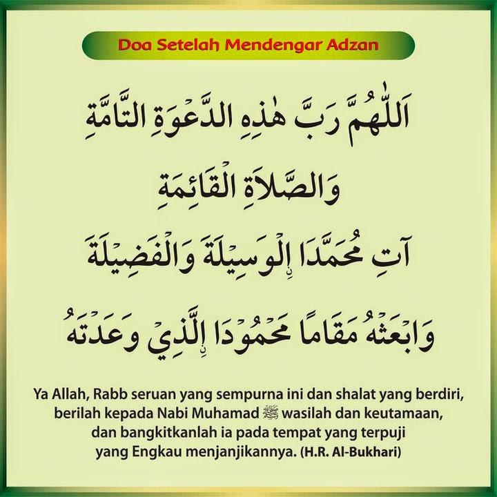 Doa Setelah Mendengar Adzan Dan Artinya Yang Shahih Belajar Islam