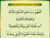 Doa setelah mendengar adzan dan artinya yang shahih