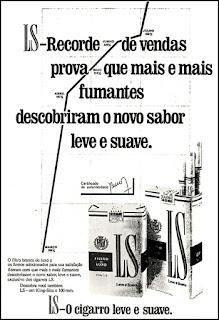 cigarros LS, 1972; propaganda anos 70; história decada de 70; reclame anos 70; propaganda cigarros anos 70; Brazil in the 70s; Oswaldo Hernandez;