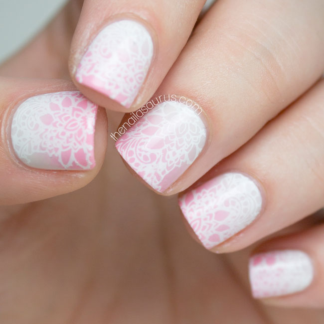 Soft Gradient Nail Art with Some Stamping - The Nailasaurus | UK ...