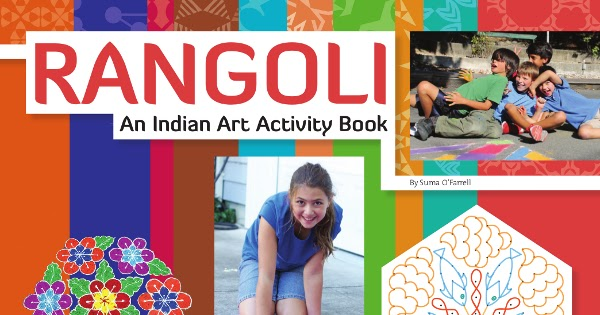 Book Cover Art Activity ~ Rangoli an indian art activity book bumples family first