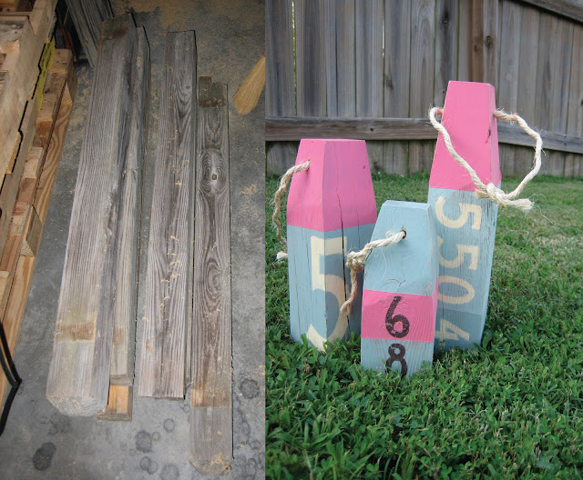 DIY Weathered Beach Buoys