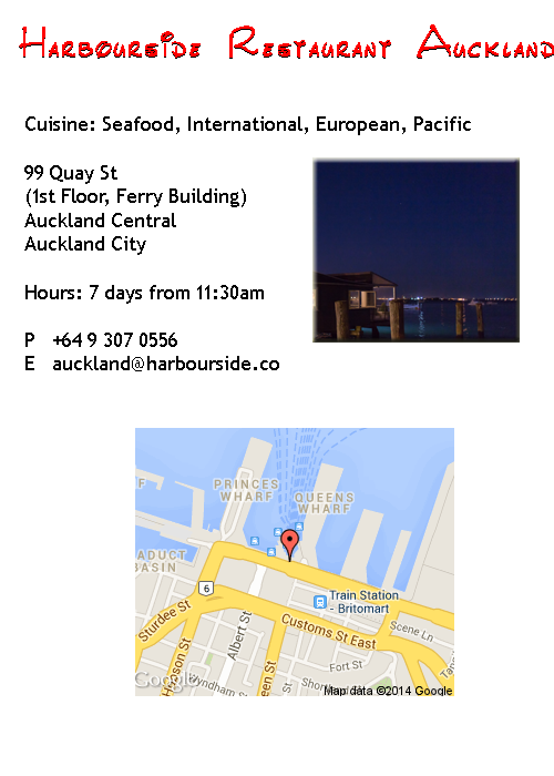 Harbourside Restaurant Auckland