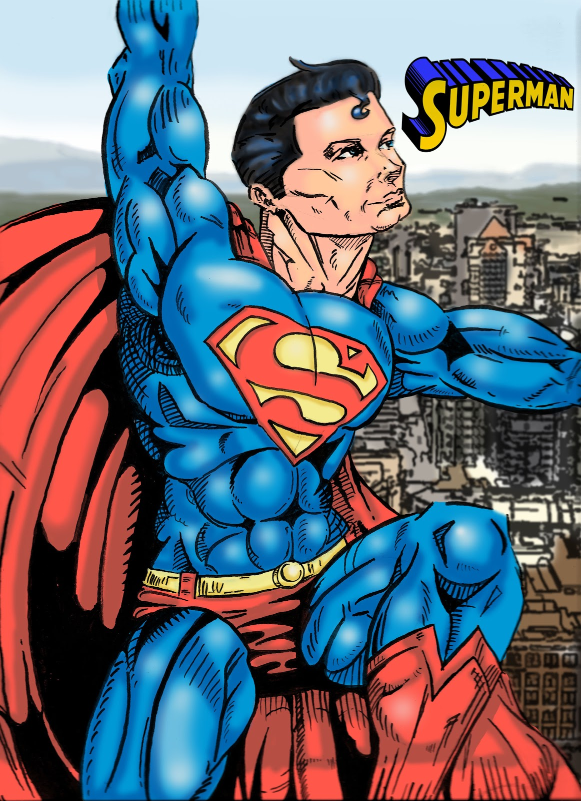 how to draw superman sign