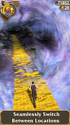 Temple Run OZ game endless run karya Imangi Studios dengan Disney untuk Android dan iOS