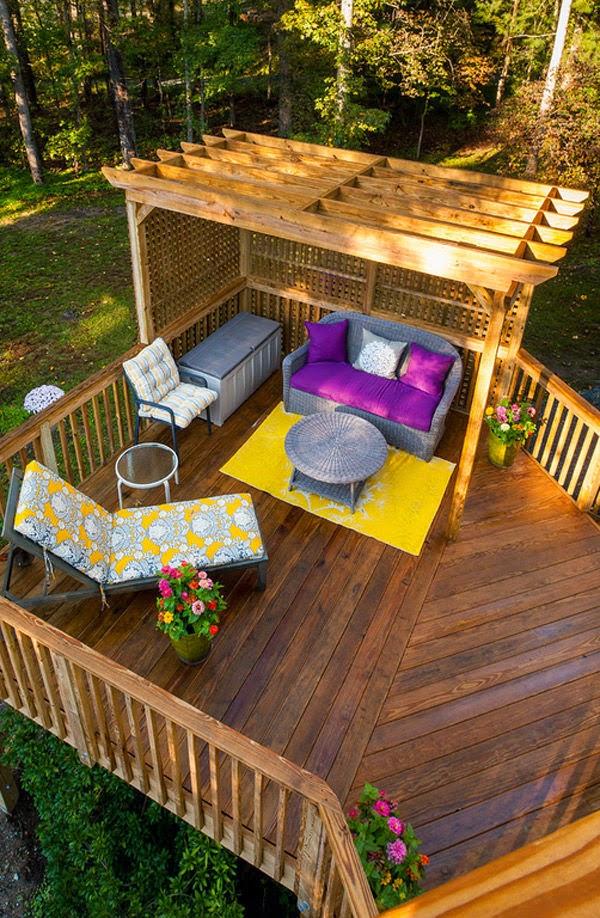 design with outdoor wooden floor | Vietnam Outdoor Furniture