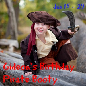 Gideon's Birthday Pirate Booty