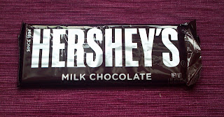 hershey's chocolate candy bar in wrapper