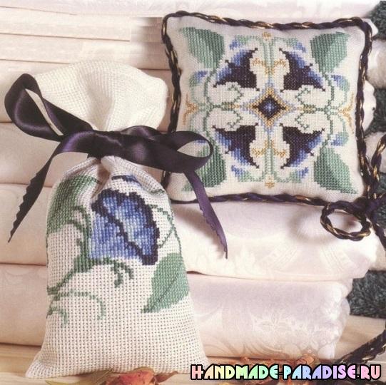 Миниатюрная вышивка. Схемы вышивки для саше